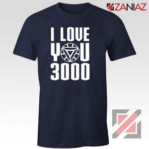 Iron Man T-Shirt Avengers Endgame T Shirt I love You 3000 Times Navy Blue