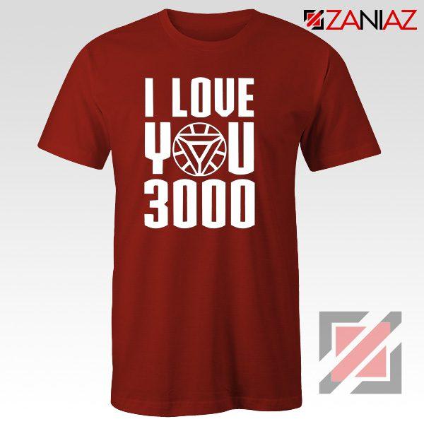 Iron Man T-Shirt Avengers Endgame T Shirt I love You 3000 Times Red