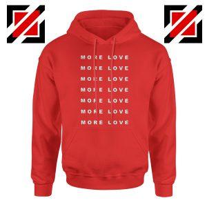 Love Forever Slogan Hoodie Love More Boyfriend Love Hoodie Red