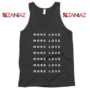 Love More Slogan Tank Top Love Forever Tank Top Valentine Day Black