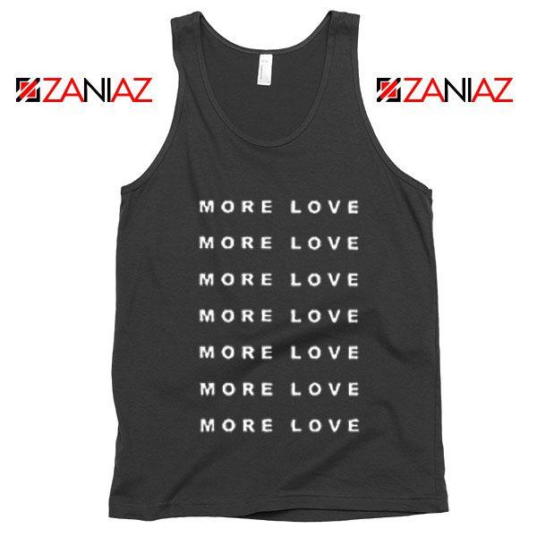 Love More Slogan Tank Top Love Forever Tank Top Valentine Day Black