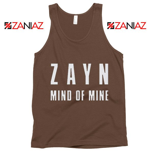 Mind of Mine Song Tank Top Zayn Gift Summer Tank Top Brown
