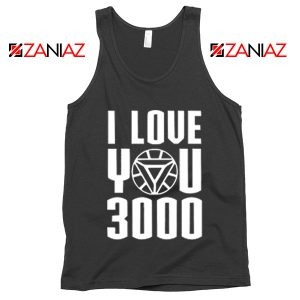 Tony Stark Avengers Endgame I love You 3000 Times Tank Top Black