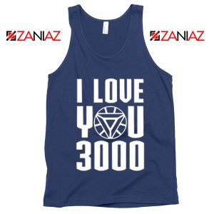 Tony Stark Avengers Endgame I love You 3000 Times Tank Top Navy