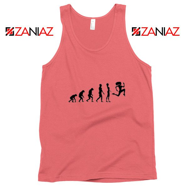 100 Days Workout Evolution Tank Top Evolution Fitness Tank Top Coral