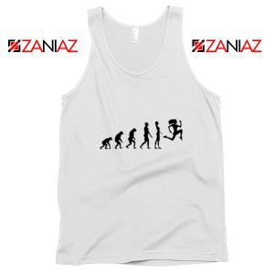 100 Days Workout Evolution Tank Top Evolution Fitness Tank Top White