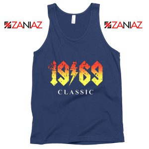 1969 Birthday Gift Tank Top Funny 50 Birthday Summer Tank Top Navy Blue