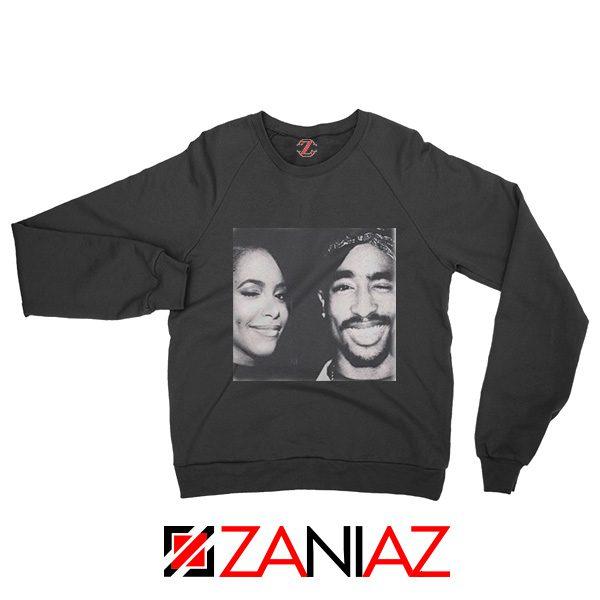 2Pac American Rapper Sweatshirt Tupac And Aaliyah Sweatshirt Black
