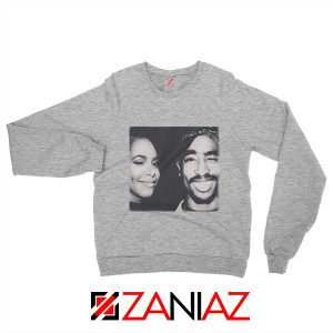 2Pac American Rapper Sweatshirt Tupac And Aaliyah Sweatshirt Grey