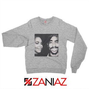 2Pac American Rapper Sweatshirt Tupac And Aaliyah Sweatshirt Grey
