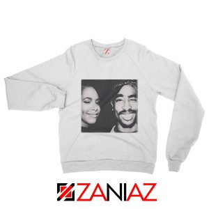 2Pac American Rapper Sweatshirt Tupac And Aaliyah Sweatshirt White