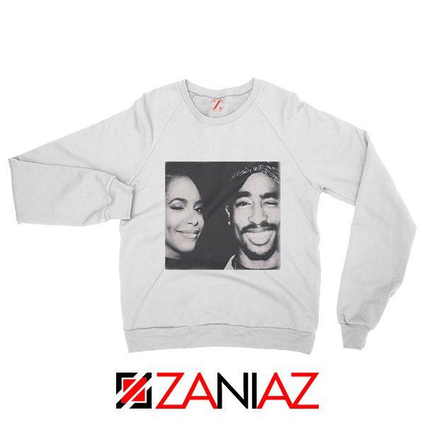 2Pac American Rapper Sweatshirt Tupac And Aaliyah Sweatshirt White