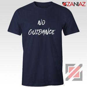 American Rapper No Guidance T-Shirt Chris Brown T Shirt Navy Blue