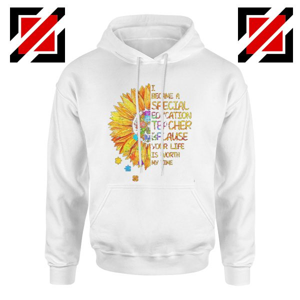 Back To School Teacher Hoodie I Became A Teacher Funny School Hoodie White