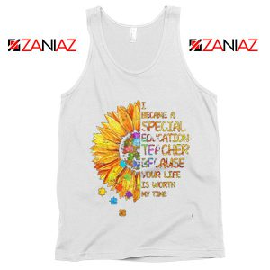 Back To School Teacher Tank Top Gift for Teacher Funny School Tank Top White