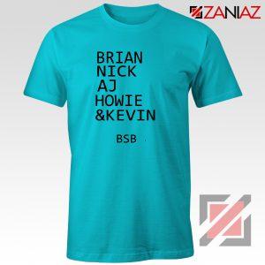 Backstreet Boys Band Names Shirt Members BSB Tshirt Size S-3XL Light Blue
