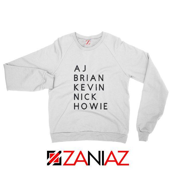 Backstreets Concert Sweatshirt American Music Sweatshirt White