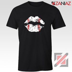 Baseball Lips Shirt Baseball Fan Best Shirt Size S-3XL Black