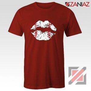 Baseball Lips Shirt Baseball Fan Best Shirt Size S-3XL Red