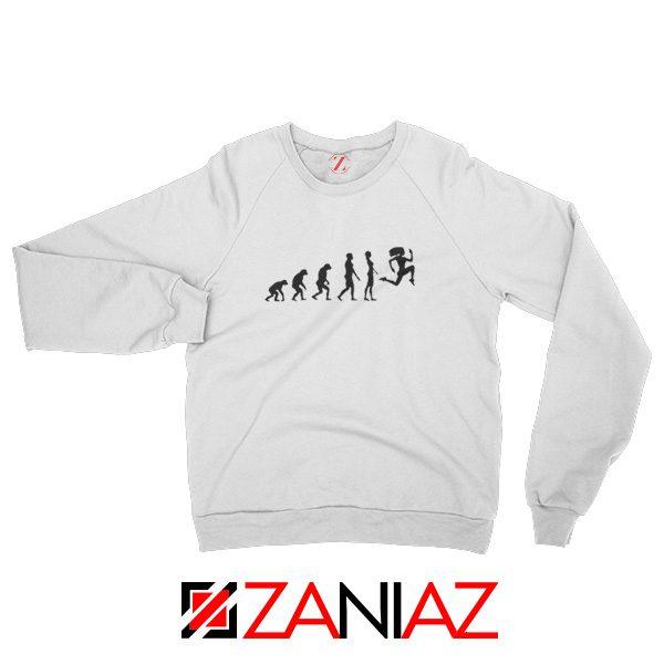 Be 100 Evolution Sweatshirt Fitness Clothing Unisex Adult White