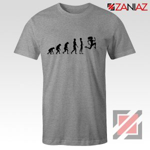 Be 100 Evolution T-shirt Womens Funny Workout Shirt Size S-3XL Grey