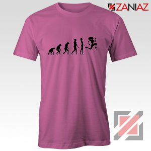 Be 100 Evolution T-shirt Womens Funny Workout Shirt Size S-3XL Pink