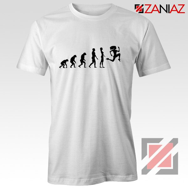Be 100 Evolution T-shirt Womens Funny Workout Shirt Size S-3XL White