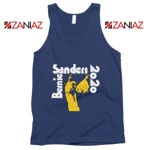 Bernie Sanders 2020 Tank Top Democrat Summer Tank Top Navy Blue