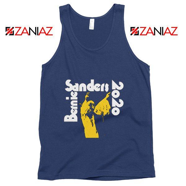 Bernie Sanders 2020 Tank Top Democrat Summer Tank Top Navy Blue