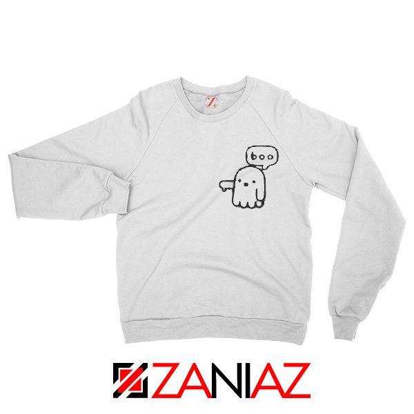 Boo Halloween Sweatshirt Ghost Movie Best Sweatshirt Size S-2XL White