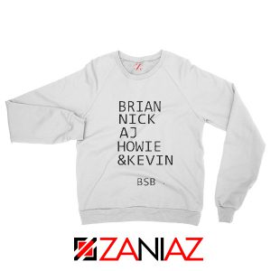 Brian Nick BSB Sweatshirt Backstreet Boys Band Best Sweatshirt White
