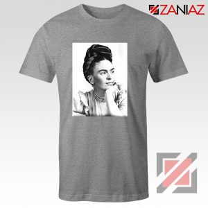 Cheap Frida Kahlo Feminist Art Shirt Women's Clothing Unisex Grey