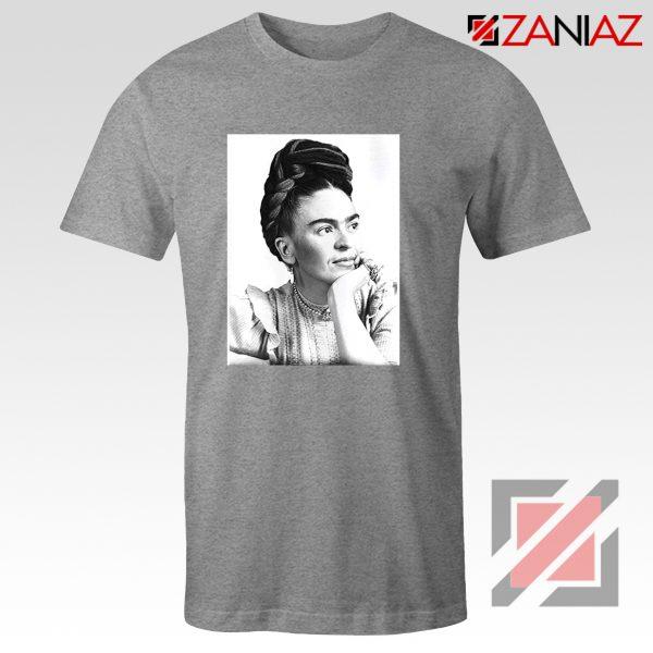Cheap Frida Kahlo Feminist Art Shirt Women's Clothing Unisex Grey