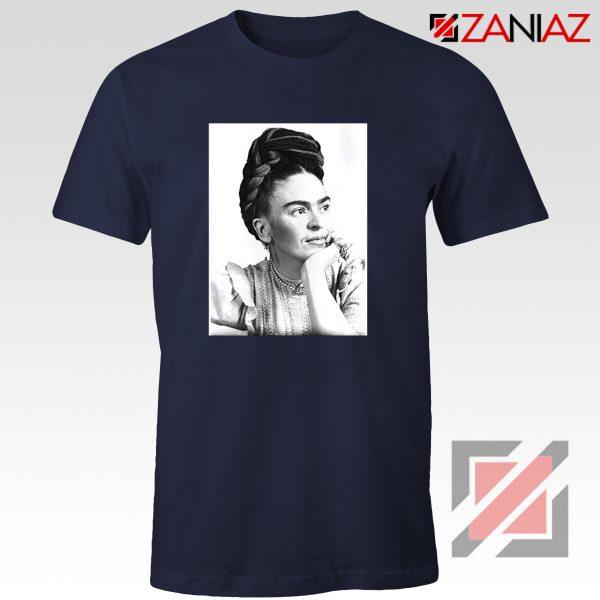 Cheap Frida Kahlo Feminist Art Shirt Women's Clothing Unisex Navy