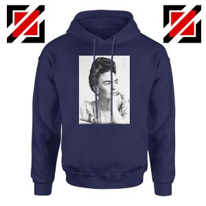 Cheap Frida Kahlo Paintings Hoodie Mexican Gift Hoodie Navy