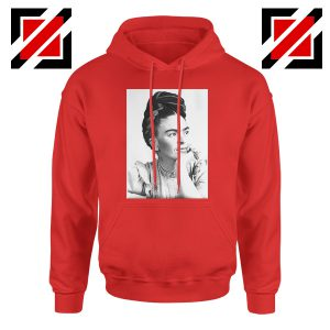 Cheap Frida Kahlo Paintings Hoodie Mexican Gift Hoodie Red