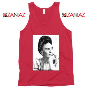 Cheap Frida Kahlo Paintings Tank Top Mexican Gift Tank Top Red