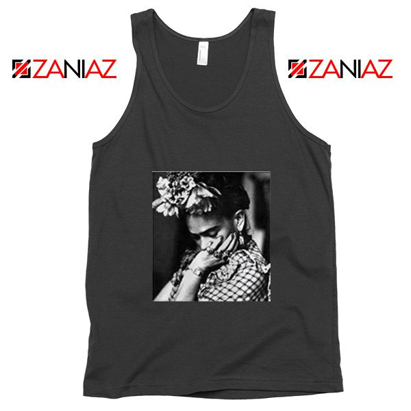 Cheap Frida Kahlo Woman Tank Top Feminist Mexican Unisex Black