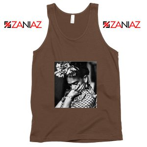 Cheap Frida Kahlo Woman Tank Top Feminist Mexican Unisex Brown