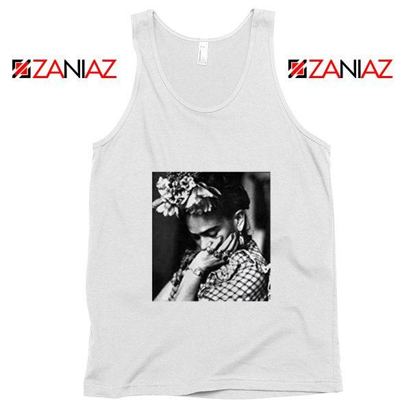 Cheap Frida Kahlo Woman Tank Top Feminist Mexican Unisex White