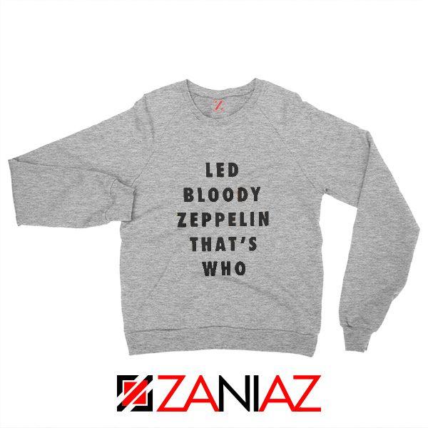 Cheap Led Zeppelin Sweatshirt Rock Band Musician Sweatshirt Grey