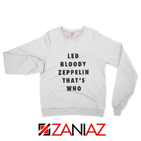 Cheap Led Zeppelin Sweatshirt Rock Band Musician Sweatshirt White