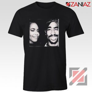 Cheap Tupac And Aaliyah Woman Shirt Musician Gift T-shirt Black