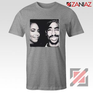 Cheap Tupac And Aaliyah Woman Shirt Musician Gift T-shirt Grey