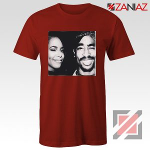 Cheap Tupac And Aaliyah Woman Shirt Musician Gift T-shirt Red
