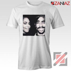 Cheap Tupac And Aaliyah Woman Shirt Musician Gift T-shirt White
