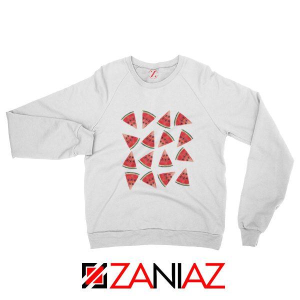 Cheap Watermelon Sweatshirt Trendy Fruit Sweatshirt Christmas Gift White