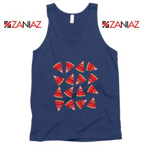 Cheap Watermelon Tank Top Funny Fruit Tank Top Summer Gift Navy Blue