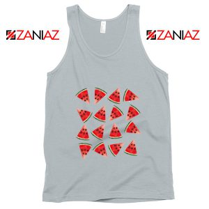 Cheap Watermelon Tank Top Funny Fruit Tank Top Summer Gift New Silver