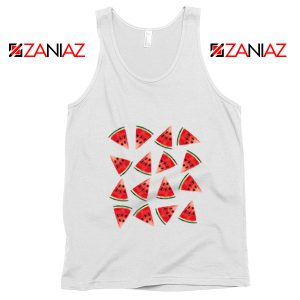 Cheap Watermelon Tank Top Funny Fruit Tank Top Summer Gift White